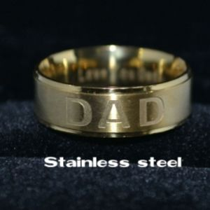 Other - Gold Plated Stainless Steel Dad Ring Sz 11